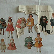 Betty Bonnet New Years Paper Doll Cutouts from 1918 Magazine