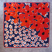 SALE Big, Big Poppies on Scarf � Unmistakeable Design by Vera