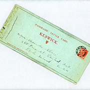 Panoramic Letter Card with Views of Keswick, England, 1911