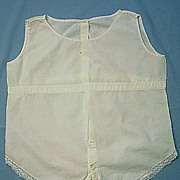 Baby�s One-Piece Cotton Undergarment or Romper, Early 1900s