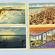Wildwood-by-the-Sea, New Jersey � Four Postcards 1940s