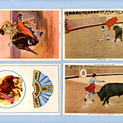 Four Postcards of Bullfighting � Action in the Ring, Matadors