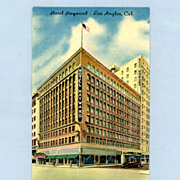 Hotel Hayward, Los Angeles  1940s Postcard