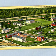 Historic Greenfield Village, Dearborn, Michigan - 1940s Postcard