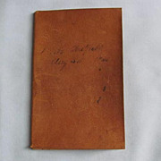 Leather-Bound Ledger of Personal Items Purchased, dated 1865