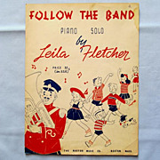 �Follow the Band� � Cute Cover by Artist Wagstaff � Piano Solo, 1944