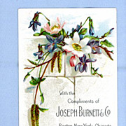 Lovely Floral Trade Card for Joseph Burnett Flavoring Extracts
