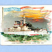 Battleship Massachusetts on Trade Card for John Hancock Life Insurance
