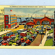 Norfolk Virginia, Commercial Plaza and Portsmouth Ferry Terminal