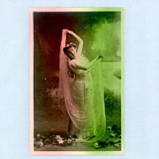 Glamour Postcard - Woman Dancing with Veils � Circa 1910