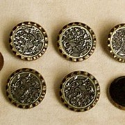 SOLD Set of Six Beautiful Victorian Floral Buttons - Great Condition!