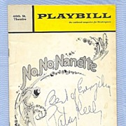 SALE Tony Winner Patsy Kelly Autograph on Playbill Cover � �No, No, Nanette�
