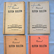 SOLD Four Bulletins of the National Button Society, 1949 to 1967
