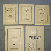 Notre Dame University Graduation Program and Memorabilia, 1937-38