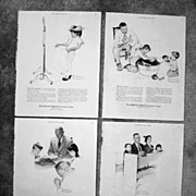 SALE Four Norman Rockwell Illustrations for Massachusetts Mutual Insurance Advertising, 1954-1