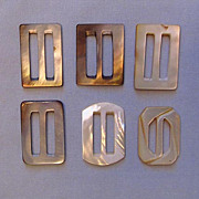 Assortment of Rectangular Mother-of-Pearl Shell Buckles