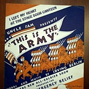 SOLD �Stage Door Canteen� - Irving Berlin 1942 Army Emergency Relief Fund Show,