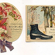 Providence Store, Wetherell Shoes - Two 1880s Trade Cards