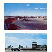 Airport Postcards - Burlington Vermont  and Boston Logan Airports, 1960s