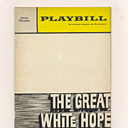 'Great White Hope', James Earl Jones - 1969 Broadway Playbill