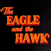 """The Eagle and the Hawk"" (1950) Hand-Painted Paramount Set of 4 Original Coming Attr"