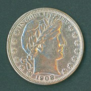 1908-S Barber Half Dollar Beautifully toned AU