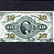 10 Cent Third Issue Fractional Currency, Choice Uncirculated Fr. 1256