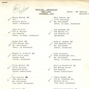 """Mission Impossible"" 1967 Christmas Card List for Cast and Crew Members"