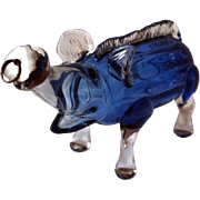 Blue Glass Wild Boar Gin Flask