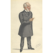 Victorian 'Spy' Print from Vanity Fair: Samuel Smiles: 'Self Help': 1882