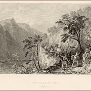 Victorian Steel Engraving: The Pass of Awe (Argyleshire)
