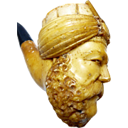 Meerschaum Pipe in the form of a Saracen's Head (Free Shipping)