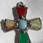 Celtic Silvertone Cross Pendant