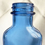 Cobalt Glass Milk of Magnesia Bottle