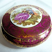 Limoges Porcelain Powder Bowl
