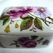 Limoges Porcelain Miniature Trinket Box with Roses