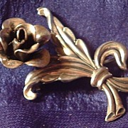 Jewelart Sterling Flower Brooch