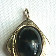 Sterling Silver and Agate Pendant: Moss Agate