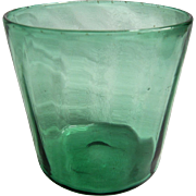 Green Glass Hand-blown Rinser