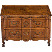 Period 18th c. Louis XV Bureau de Pente or Slanted Desk