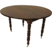 Louis-Philippe Side Table or Drop Leaf
