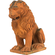 French Terra-Cotta Lion Sculpture