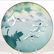 French Plate with Pierrots - Keller & Guerin Luneville France - 1900 - 1920