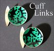 Modernist Oystein Balle Cufflinks - Sterling Silver & Enamel - Norway - Mid Century - Cuff Links