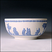 Large Wedgwood Reverse Jasper Ware Bowl - Sacrifice Figures - Jasperware
