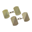 Solid 9K Gold Art Deco Double Sided Cufflinks - Mid Century Look - 1930's British Hallmarks - Cuff Links - Men's Fine Jewelry