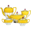 Czech Tea Service w/ Rosebud Finials - Hand Painted - Victoria China Czechoslovakia - 1918 - 1939