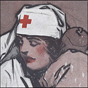 Gordon Grant WW1 Poster &quot;The Comforter' 1918 - American Red Cross Nurse Recruiting Poster