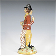 Antique Staffordshire Temperance Figurine - Double Sided Water and Gin