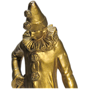 Petite Pierrot - Small Bronze of Classic Commedia dell'Arte Character